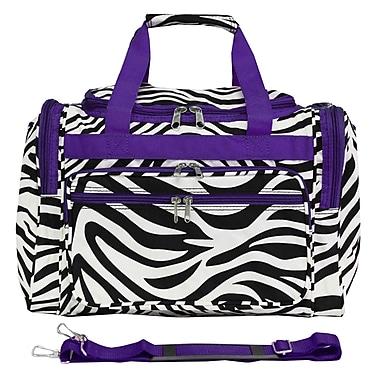 World Traveler Zebra 16'' Shoulder Duffel; Light Purple