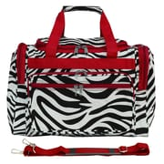World Traveler Zebra 16'' Shoulder Duffel; Red