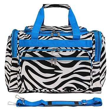World Traveler Zebra 16'' Shoulder Duffel; Blue