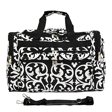 World Traveler Damask 19'' Shoulder Duffel; Black