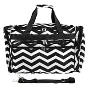 World Traveler Chevron 19'' Shoulder Duffel; Black / White