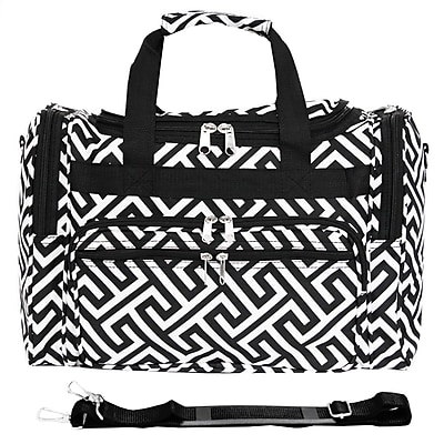 World Traveler Greek Key 16'' Shoulder Duffel