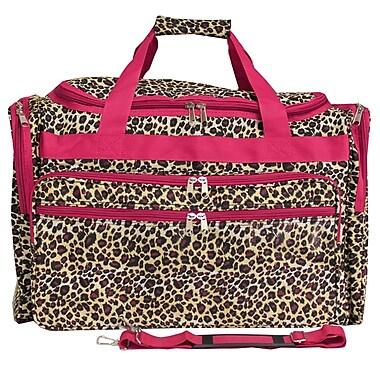 World Traveler Leopard 22'' Travel Duffel; Pink