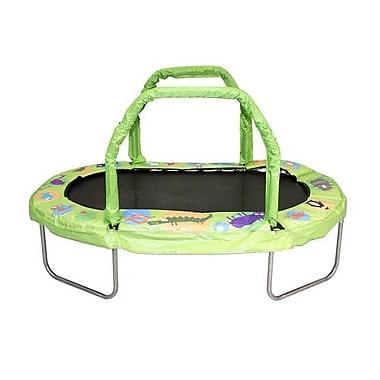 Jumpking Mini Oval Trampoline w/ Pad; Green