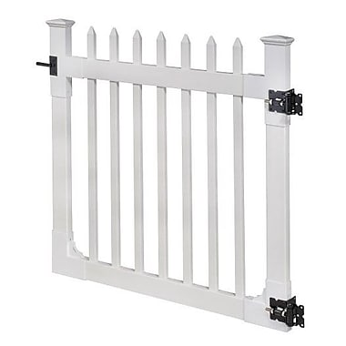 Wam Bam No-Dig Fence Nantucket Vinyl Picket Gate w/ Stainless Steel Hardware