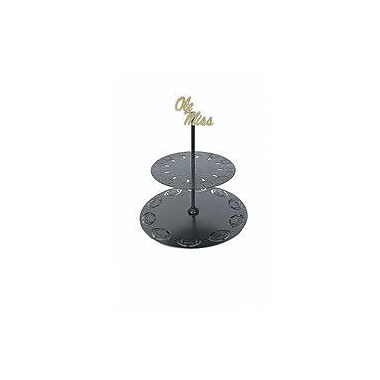 HensonMetalWorks Collegiate Logo 2 Tiered Stand; Mississippi