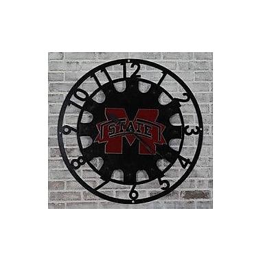 HensonMetalWorks Oversized 37'' Mississippi State Collegiate Wall Clock