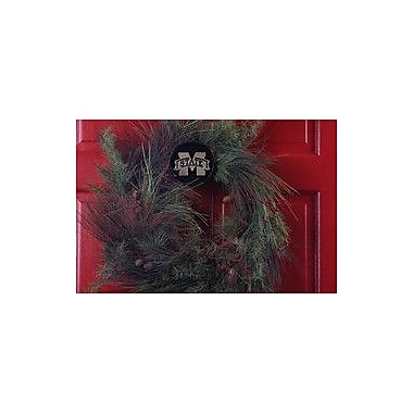 HensonMetalWorks Collegiate Wreath Holder Decoration; Mississippi State