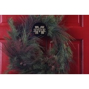 HensonMetalWorks Collegiate Wreath Holder Decoration; Mississippi State