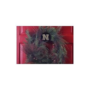 HensonMetalWorks Collegiate Wreath Holder Decoration; Nebraska