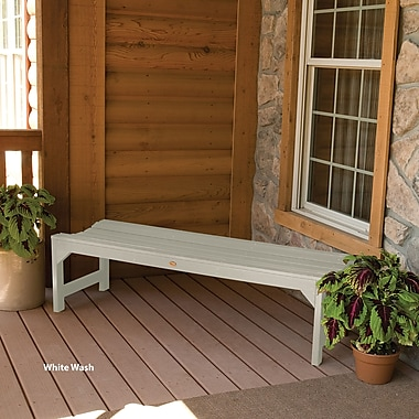 Buyers Choice Phat Tommy Wooden Kepner Picnic Bench; White Wash