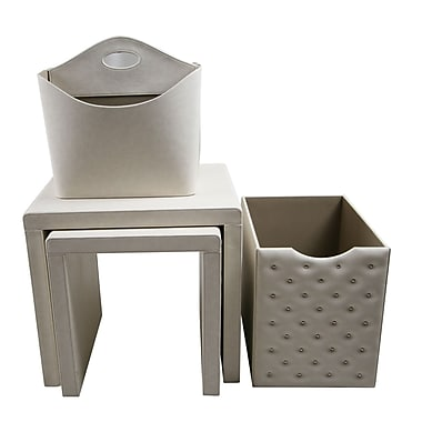 Upscale Designs by EMA 4 Piece Nesting Table; White
