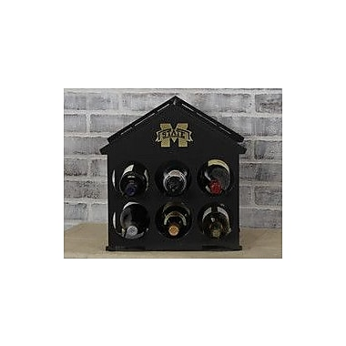HensonMetalWorks 6 Bottle Tabletop Wine Rack; Mississippi State
