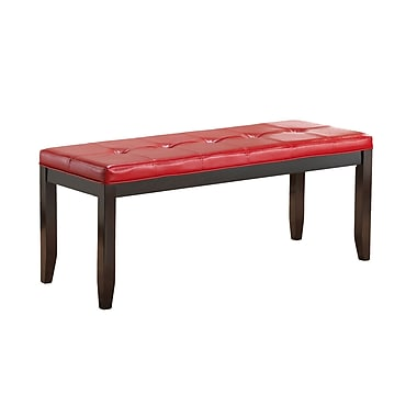 Glory Furniture Faux Leather Bench; Red