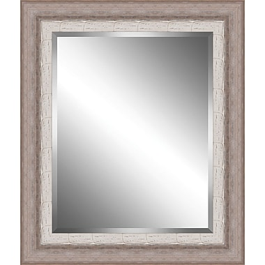 Ashton Wall D cor LLC Ribbed Wood Framed Beveled Plate Glass Mirror; Large