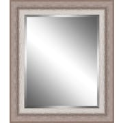 Ashton Wall D cor LLC Ribbed Wood Framed Beveled Plate Glass Mirror; Small