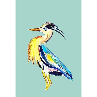 Betsy Drake Interiors Blue Heron Vertical Flag; 28'' W x 40'' H
