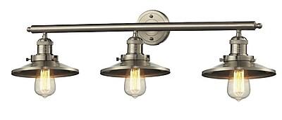 Innovations Lighting Railroad Glide 3-Light Armed Sconce; Brushed Satin Nickel