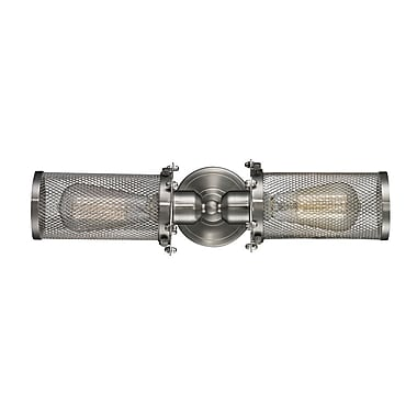 Innovations Lighting Quincy Hall 2-Light Bowtie Wall Sconce; Satin Nickel