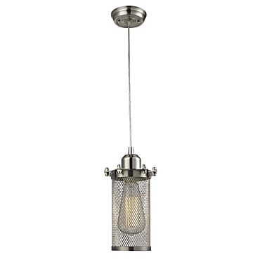 Innovations Lighting Quincy Hall 1-Light Mini Pendant; Satin Nickel