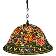 Warehouse of Tiffany Southern Belle Rose 2-Light Hanging Pendant