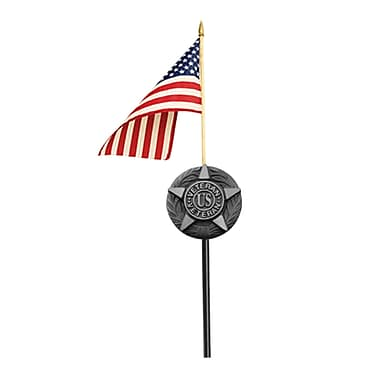 Annin Flagmakers Flagmakers Grave Marker Traditional Flag and Flagpole Set
