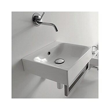 WS Bath Collections Kerasan Cento 15.7'' Wall Mount Bathroom Sink w/ Overflow