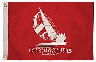 Taylor Made Products Old Guys Rule 'Sailing Through Life' Traditional Flag