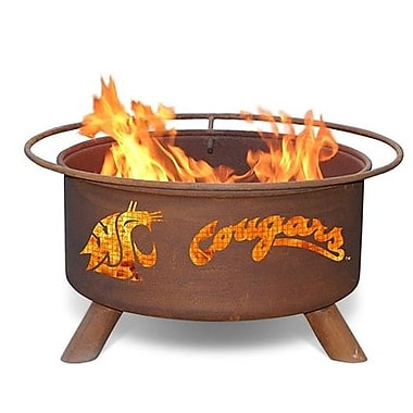 Patina Products Collegiate Series Steel Wood Burning Fire pit; Washington State