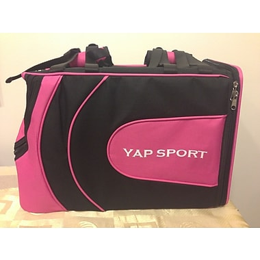 Yap USA Sports Backpack Pet Carrier; Pink/Black