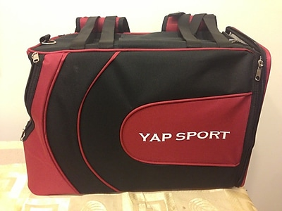 Yap USA Sports Backpack Pet Carrier; Red/Black