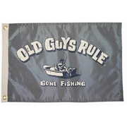 Taylor Made Products Old Guys Rule 'Gone Fishing' Traditional Flag