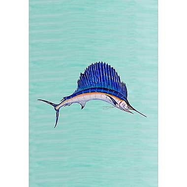 Betsy Drake Interiors Sailfish Vertical Flag; 40'' H x 28'' W
