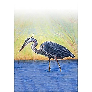 Betsy Drake Interiors Blue Heron Vertical Flag; 12'' W x 18'' H