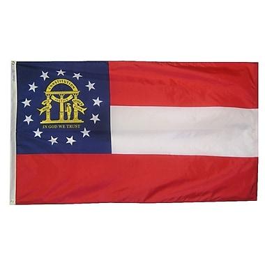 Annin Flagmakers Georgia State Flag; 4' x 6'