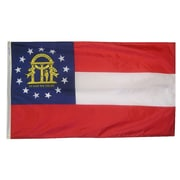 Annin Flagmakers Georgia State Flag; 4' x 6'