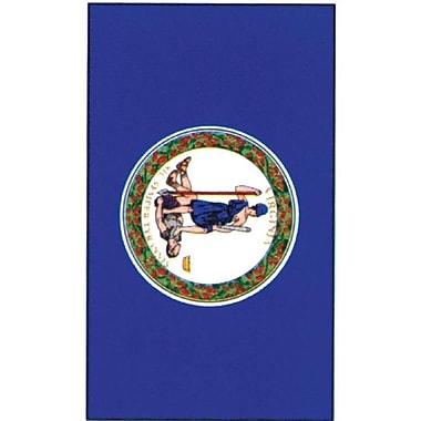 Evergreen Flag & Garden Print Virginia State Applique 2-Sided Garden Flag; 18'' H x 28'' W