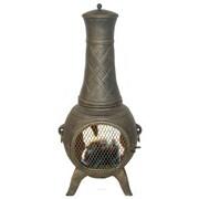 Deeco Western Basket Weave Aluminum Wood Burning Chiminea