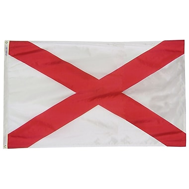 Annin Flagmakers Alabama State Flag; 4' x 6'