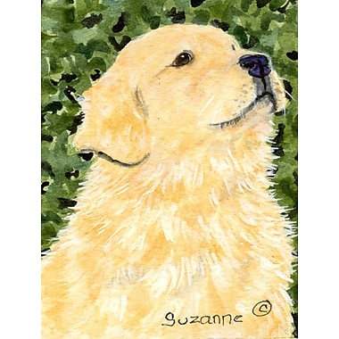 Caroline's Treasures Golden Retriever 2-Sided Garden Flag
