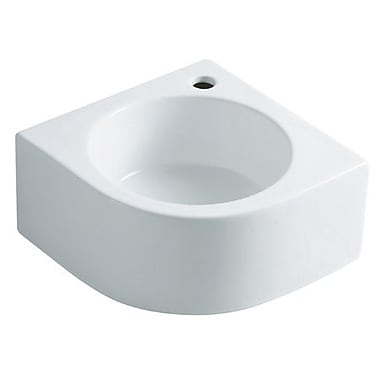 Elements of Design Manhattan Ceramic 15'' Corner Bathroom Sink