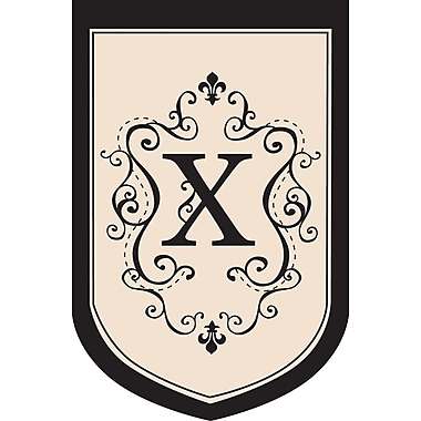 Evergreen Flag & Garden Monogram Garden Flag; X