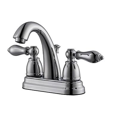 Design House Hathaway Double Handle Centerset Standard Bathroom Faucet; Polished Chrome