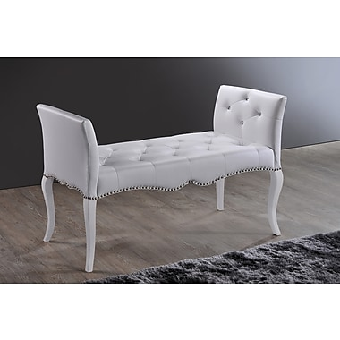 Wholesale Interiors Baxton Studio Wood Bench; White