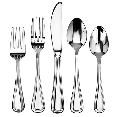 New Star Foodservice Slimline 60 Piece Stainless Steel Flatware Set