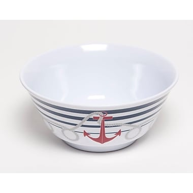 Galleyware Company Yacht and Home 20 oz. Dockside Melamine Non-Skid Soup/Cereal Bowl (Set of 6)