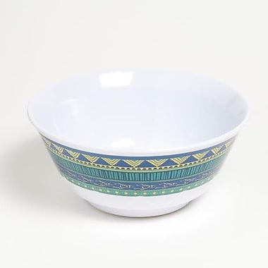 Galleyware Company Yacht and Home 20 oz. On Lake Time Melamine Non-Skid Soup/Cereal Bowl (Set of 6)