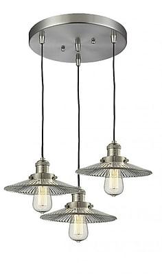 Innovations Lighting Halophone 3-Light Cluster Pendant; Oil Rubbed Bronze