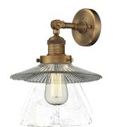 Innovations Lighting 1-Light Holophane Glass Wall Sconce; Brushed Brass