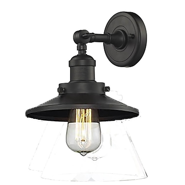 Innovations Lighting 1-Light Railroad Shade Wall Sconce; Oiled Rubbed Bronze